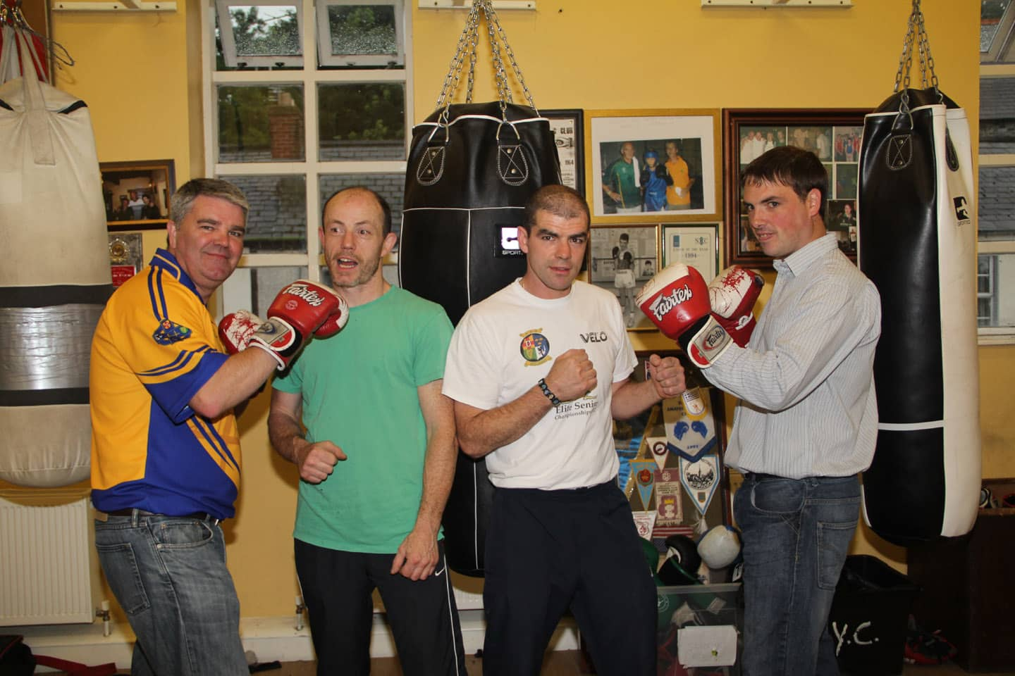 From l-r: Cathal Boylan, Chris Fullerton, Martin Renaghan and Darren McNally