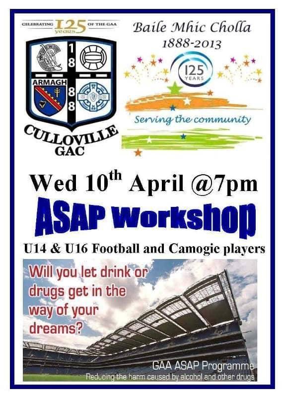 GAA Club Notes (Week beginning April 8) - Armagh I