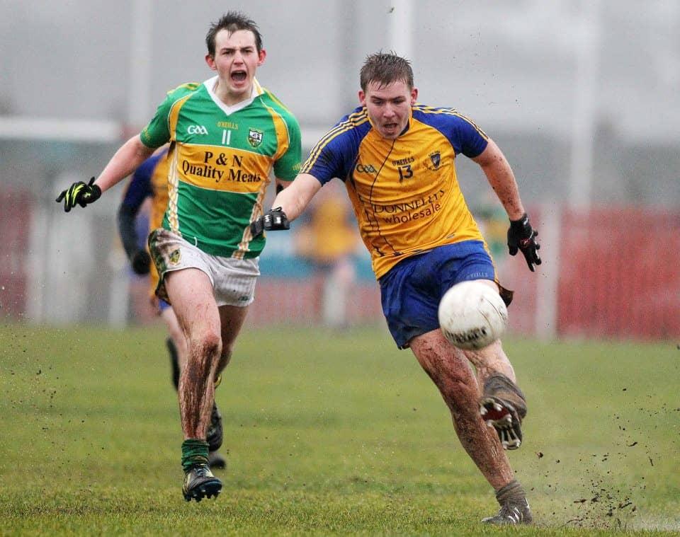 Siverbridges' Eoghan Burns in action Ulster Minor Final