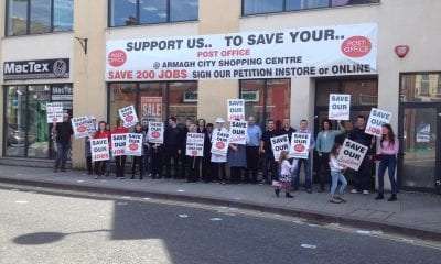 Armagh post office protest