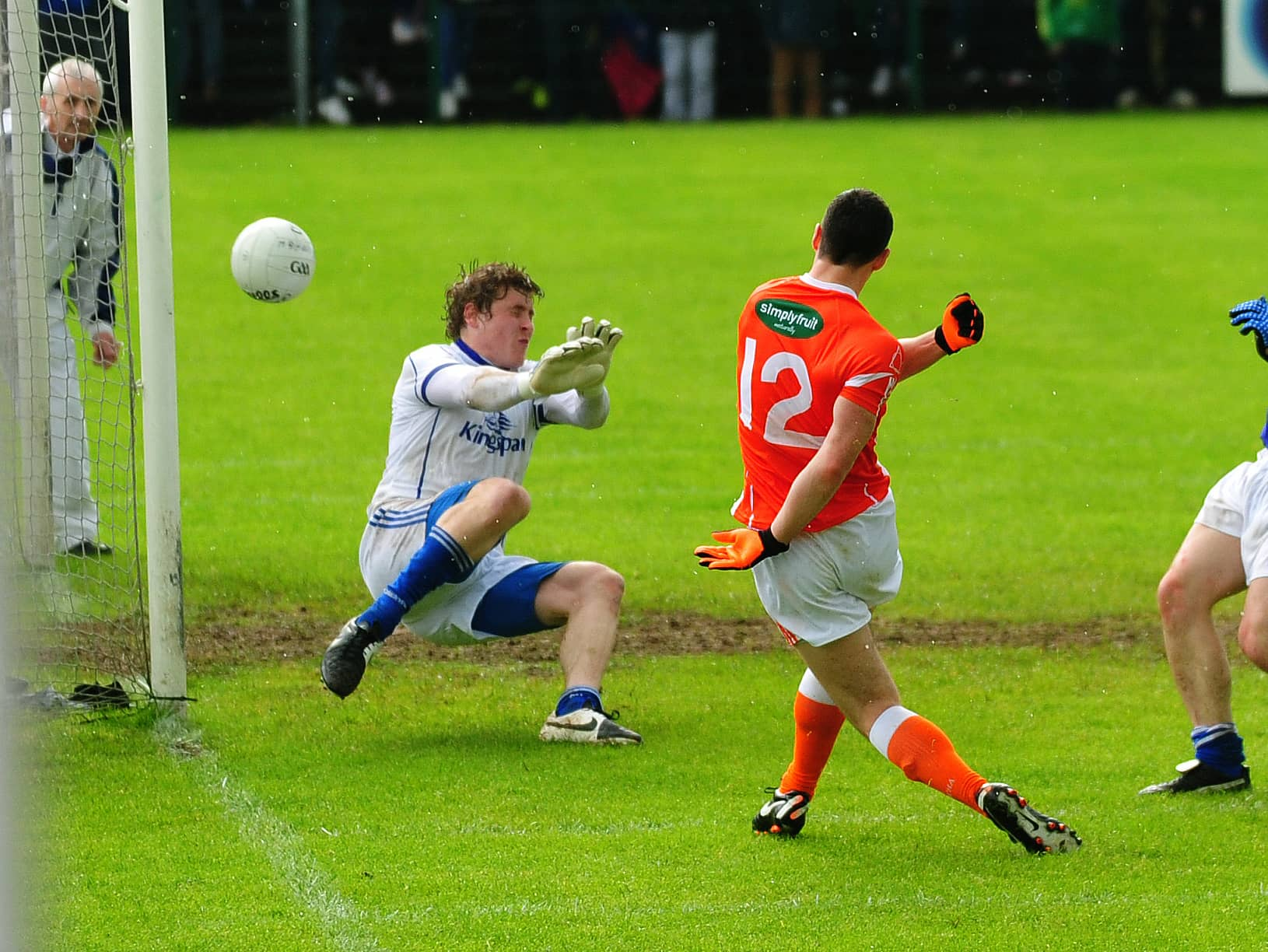 Caolan Rafferty's goal against Cavan helped Armagh on their way to the Ulster Championship semi-final but a suspected broken hand sustained in training has ruled him out of the big game against Monaghan on Sunday week. Picture: Conor Greenan