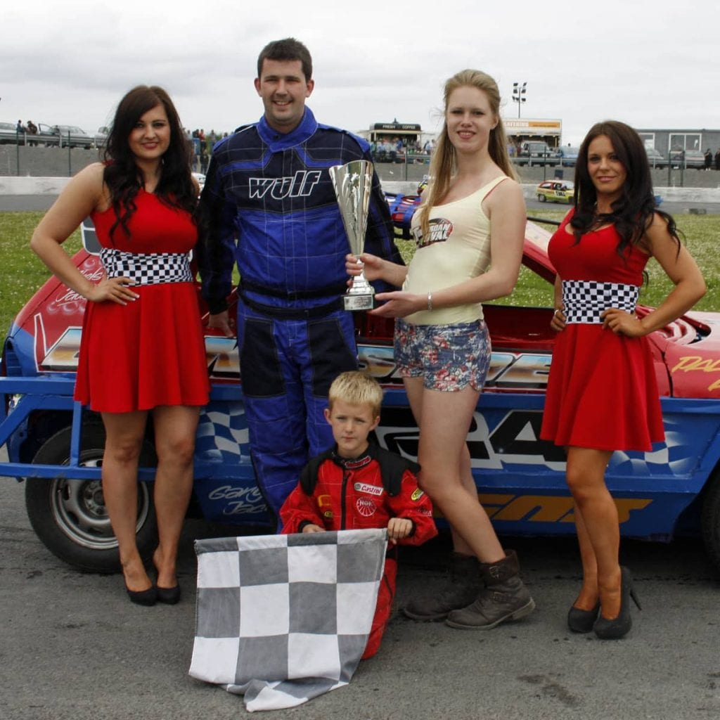 Ivan Elliot quickly settled into the 1300 Stock Car class at Tullyroan Oval - winning the Dilly Roofing Supplies sponsored final on Sunday in only his first meeting in the class