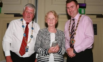 Lord and Deputy Lord Mayor presents Anne McArdle with Volunteer of the Year