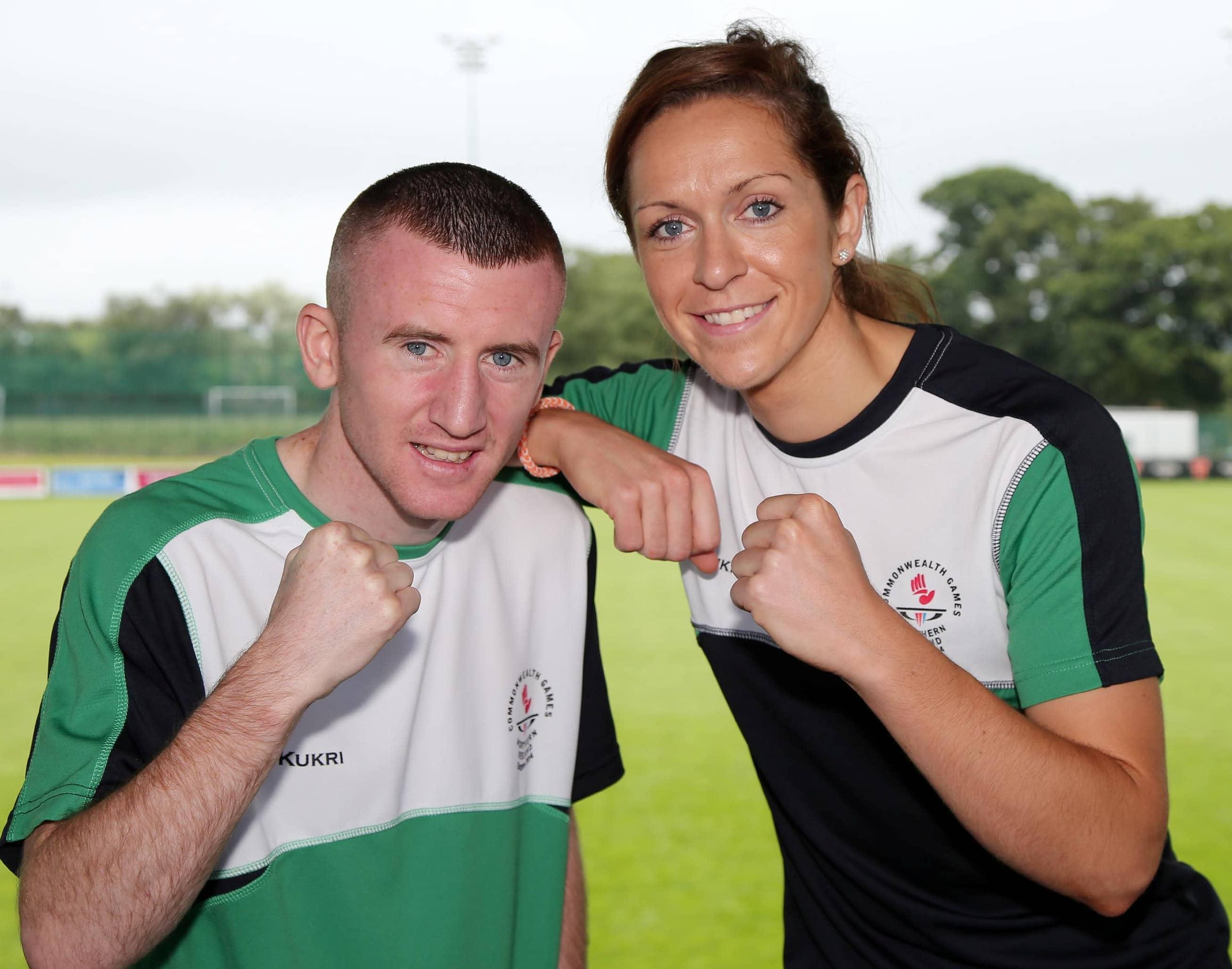 NI boxer Paddy Barnes with Caroline O'Hanlon