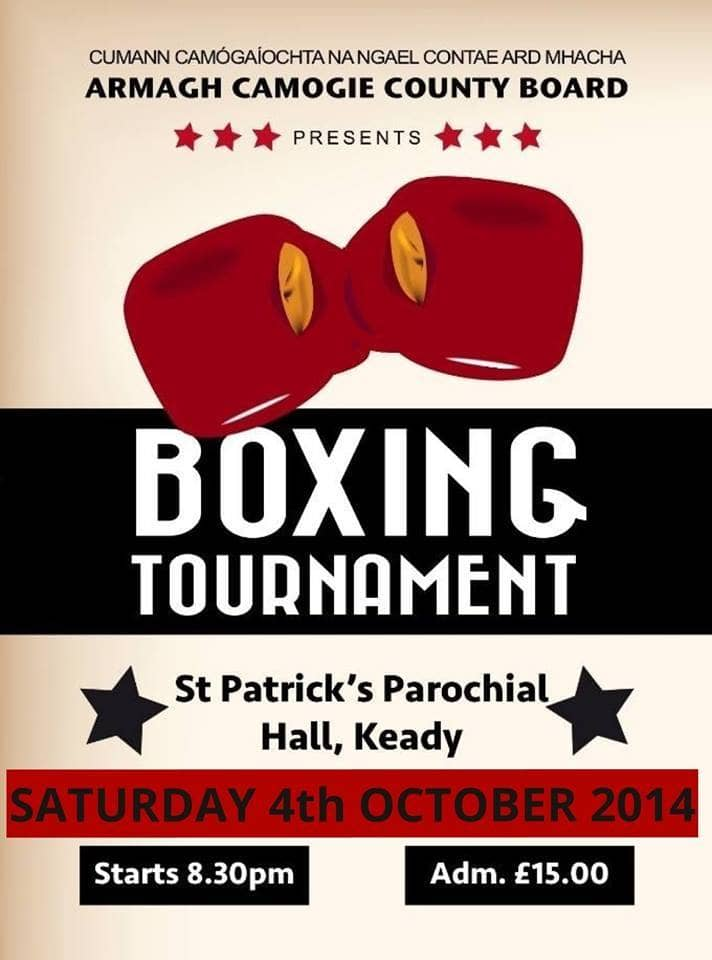 Armagh County Camogie board presents Keady fight night boxing