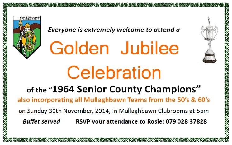 Mullaghbawn 1964 Invite