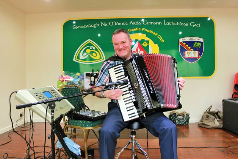 Raymond Loney on the accordian
