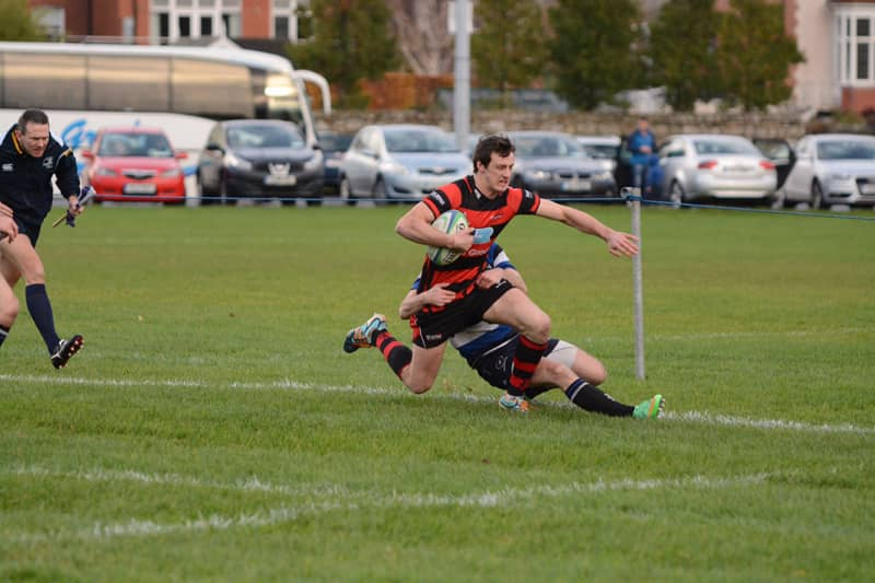 City Armagh winger Robbie Faloon was this close to scoring in the first half