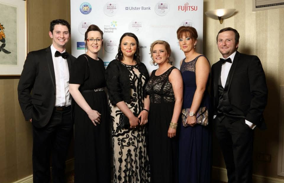 Stephen, Elaine, Clare (owner), Roisin, Donna and Paul (owner)