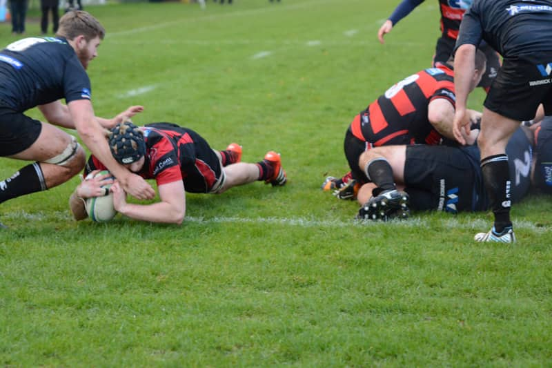 Stephen Morton scores Armagh's first try.