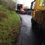 Lorry overturns in Darkley