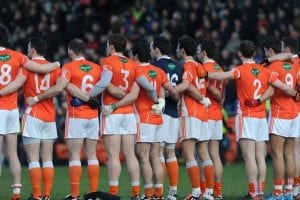 Armagh team before Tipperary game at the Athltic Grounds. Photo: John Merry
