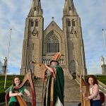 Immerse yourself in the culture and history of Armagh and St Patrick as the city celebrates Ireland's patron saint with five jam-packed days of live entertainment including music, song, dance, theatre and the spoken word for what will be the city's largest-ever St Patrick's Festival to date. Harpists Ciara O'Hanlon and Tara Gilsenan (pictured) are ready to welcome the expected 20,000 visitors to Armagh and its many iconic venues including the Public Library, the Market Place Theatre to enjoy acts such as Mary Coughlan, Stockton's Wing and Kila, as well as numerous activities for festival-goers of all ages including 'The Storytellin' Man and the Songstress' and a giant interactive storyboard telling the story of St Patrick in Ireland the iconic Navan Fort. Running from Thursday 12th – Tuesday 17th March, see the full schedule at www.armagh.co.uk/saintpatrick.