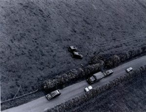 Murder scene at Carrickaness Road, in 1974.