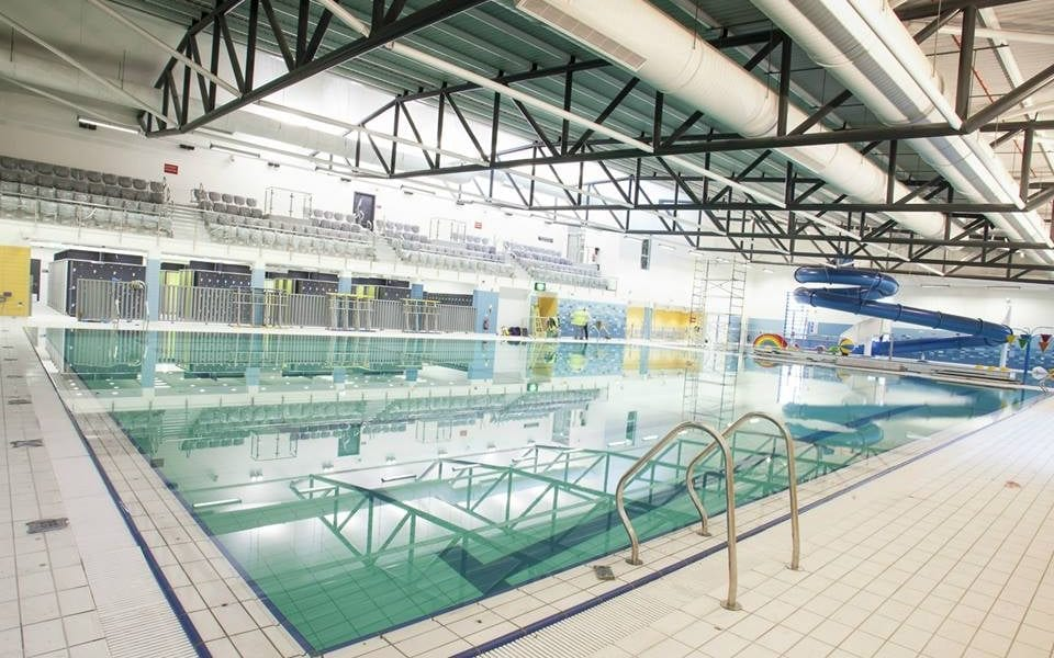 New multi million pound newry leisure centre to open next month armagh i for Swimming pool technician salary