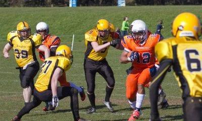Craigavon Cowboys' Carlos Delgado running the ball