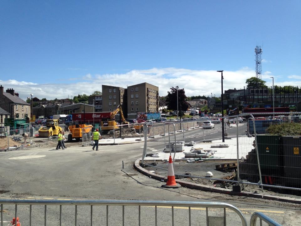 Armagh city roadworks