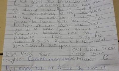 Letter found on Keady Road