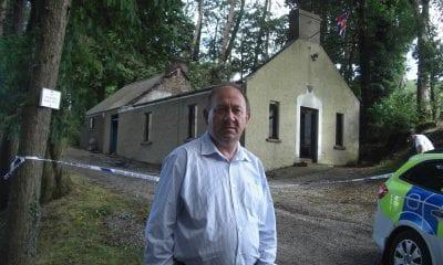 William Irwin MLA outside the Ballytyrone Orange Hall