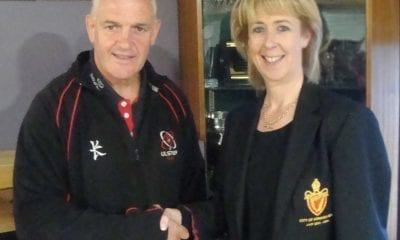 Brian McLaughlin and Shirly-Anne Donaldson, Armagh Rugby Club President
