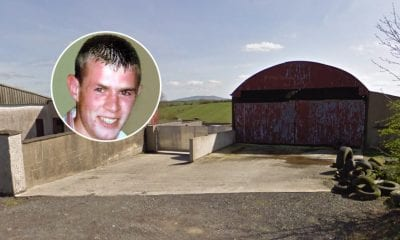 Paul Quinn (inset) and the farm he was beaten to death on in county Mongahan