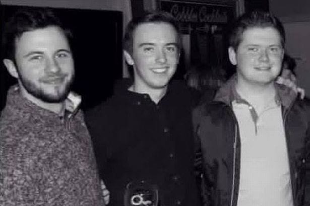 Friends Peter Hughes, Conall Havern and Gavin Sloan