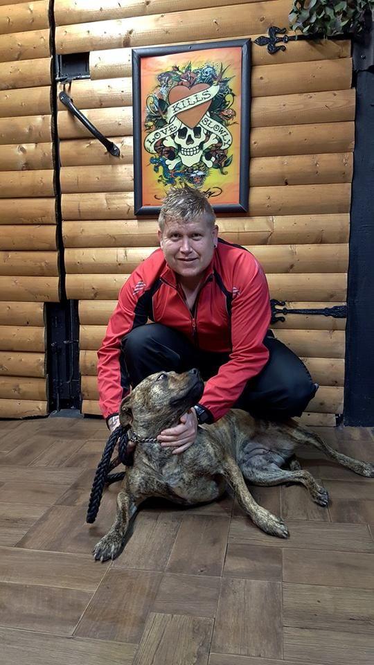 William McClathey and his dog Zena