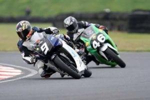 Jordan Burrows in race action