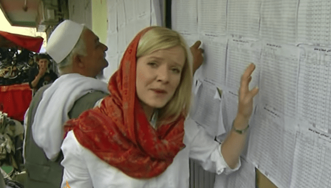 County Armagh-born reporter Jane Ferguson reporting from Kabul