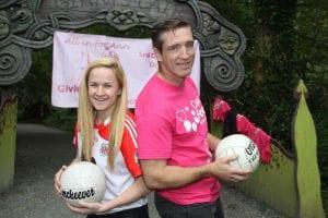 GEMMA Begley Tyrone with Kieran McGeeney Armagh Senior Men's Manager.