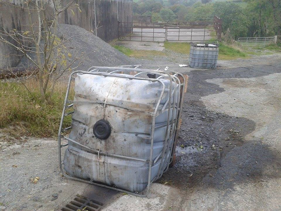 Fuel waste dumped in Upper Darkley, county Armagh