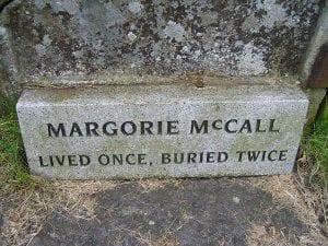 Marjorie McCall gravestone in Lurgan