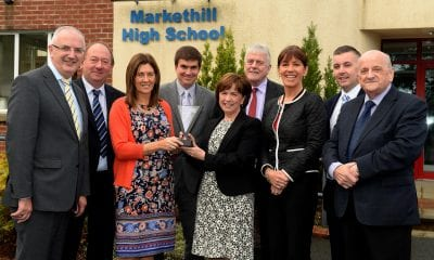 Danny Kennedy, MLA, William Irwin, MLA, Claire Henry, Head of Modern Languages, Markethill high school Mr James Maxwell, Principal Markethill high school, Diane Dodds, DUP, member of the European Parliament, Jim Nicholson, UUP, member of the European Parliament , Delores Stinson, European studies co-ordinator, Paul Berry Councillor, Armagh City, Banbridge and Craigavon Borough Council and Mr William Johnston, Head of Board of Governors at the announcement of Markethill High School winning the International School award, presented by the British Council. Markethill High School, Markethill, Co Armagh.