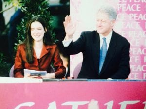 Sharon Haughey and Former US President Bill Clinton
