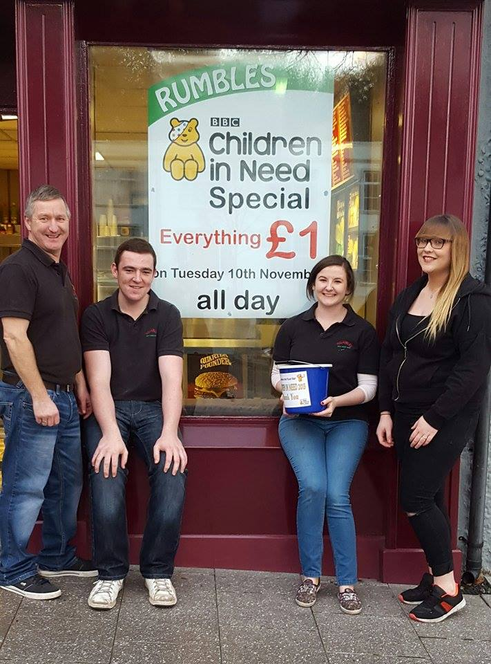Left to right: Geoffrey McCracken (owner), Ryan Gilmore, Catherine McMullan and Niamh Smith