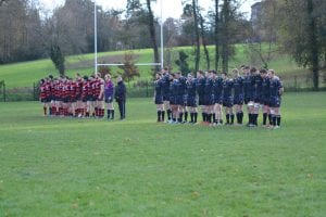 A minute's silence is held before the game to remember the victims of the Paris attacks