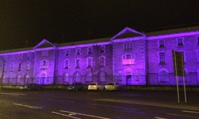 Armagh Gaol lit up for World Pancreatic Cancer Day, on Friday, November 13