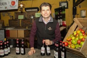 Greg MacNeice from Mac Ivor's offering a great selection of ciders in Cider Alley