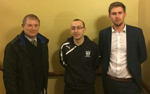 Councillors Cadogan Enright, Kevin McAteer and Paul Hyland
