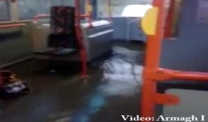 Bus flooded