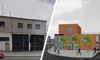 The fire station as it stands now and how it will look once completed