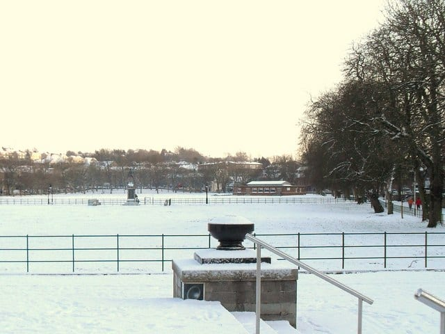 Mall Armagh in the snow