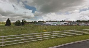Derelict land adjacent to the Asda store in Portadown