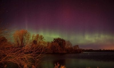 Northern Lights over Craigavon Lakes, county Armagh. Pic by Paul Wharton