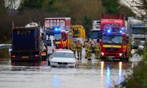 Flooding on the Moy Road, Armagh. Scene from Tuesday, Decemebr 8. Pics by Mark Winter
