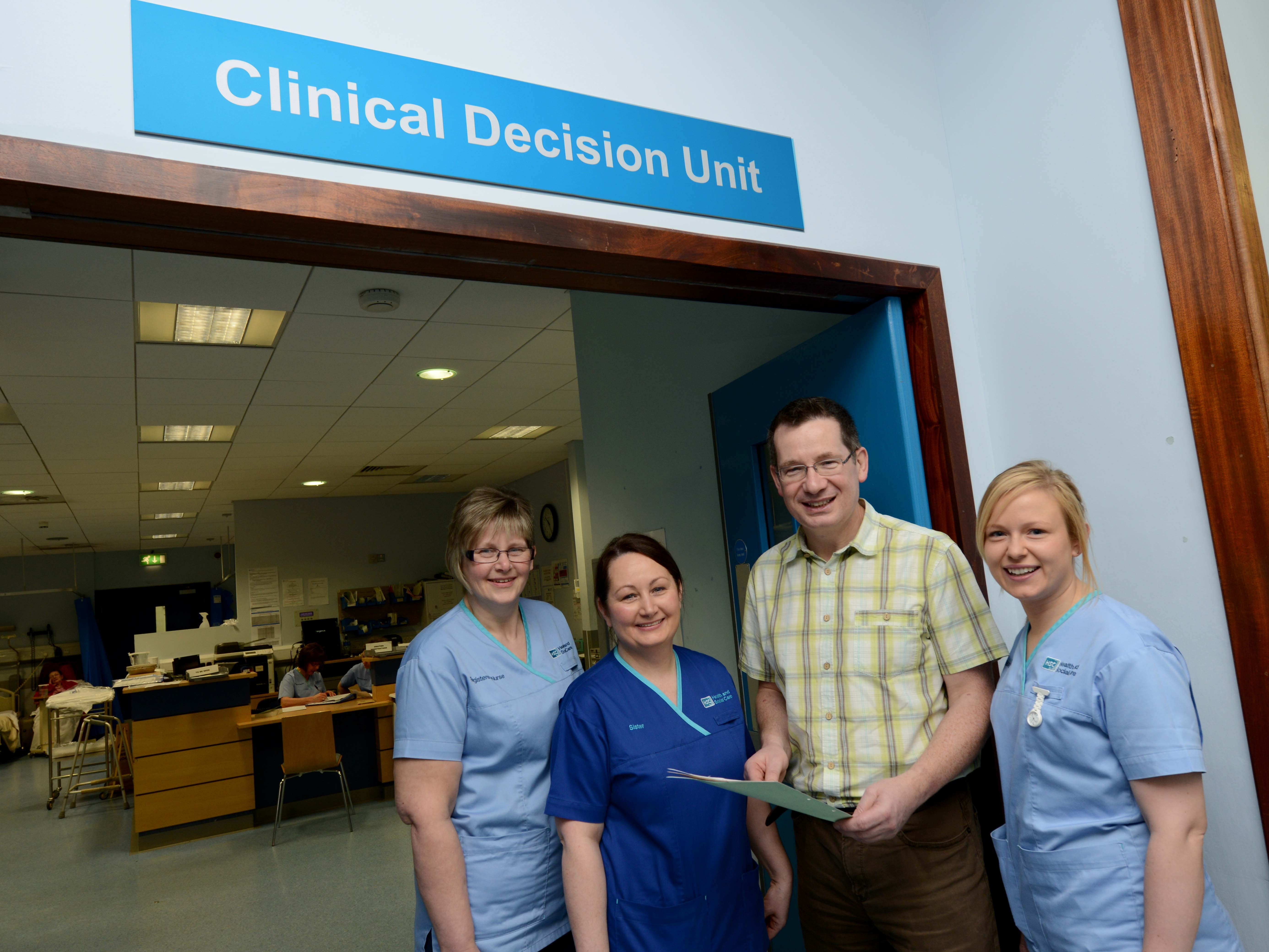 Mr Seamus O'Reilly, Associate Medical Director for Emergency Medicine, Southern Health and Social Care Trust pictured with some colleagues in the Emergency Department in Craigavon Area Hospital