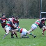 Josh Morton tackled as Matty Wright gets taken out off the ball