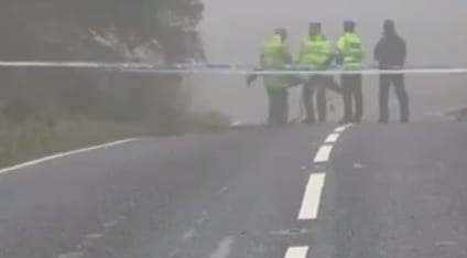 Scene of the crash on Cladymilltown Road