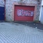 Graffiti in Armagh city centre