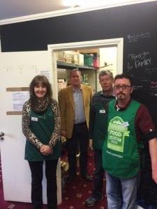 Doug Beattie visits a foodbank in Portadown